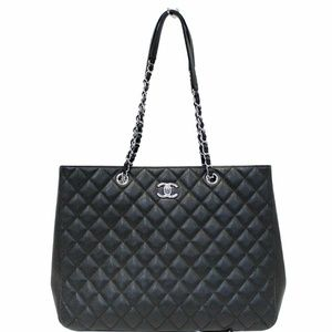 CHANEL Large Classic Caviar Leather Tote Bag